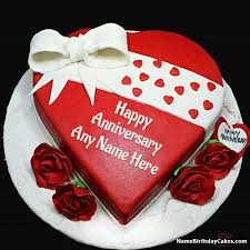 Get Free Marriage Anniversary Cake With Name
