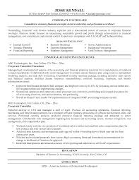 Sample Controller Resume Controller Resume Accomplishments Sample Accounting Resumes Resume 7
