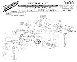 milwaukee 0224 1 parts list and diagram ser 574 267243 milwaukee 0224 1 parts list and diagram ser 574 267243 ereplacementparts com