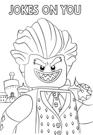 Small Picture Jocker from The LEGO Batman Movie coloring page Free Printable