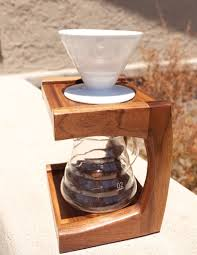 To use it, simply place a filter in the hole, add coffee grounds, then pour hot water over it slowly and watch your perfect coffee drip down into the cup below! Walnut Coffee Pour Over Stand The Wood Whisperer
