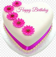 heart shape happy birthday cake happy