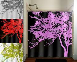 black and pink bathroom accessories. Pink Tree Black Shower Curtain Bathroom Decor Fabric Kids Bath Winsome Design And Sets Accessories P
