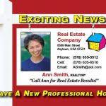 Real Estate Announcement Postcards Tisstroy