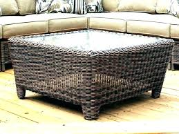 wicker coffee table ottoman fascinating round wicker ottoman rattan ottoman coffee table outdoor wicker coffee table