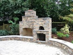 outdoor fireplace with pizza oven traditional masonry brick plans