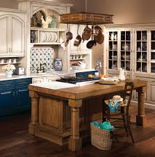 rustic kitchens with islands. Rustic French Country Kitchen White Color Rectangle Shape Island Brown Wooden Storage Cabinets Kitchens With Islands