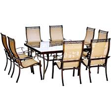 outdoor dining sets for 8. Hanover Monaco 9-Piece Aluminum Outdoor Dining Set With Square Glass-Top  Table And Outdoor Dining Sets For 8 A