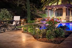 landscape lights pool