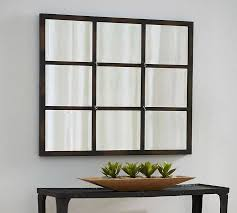 inspiration about eagan multipanel small mirror bronze pottery barn inside multi panel wall mirrors
