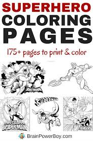 printable superhero coloring pages over 175 free printable superhero coloring pages superhero spider