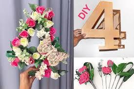 I fiori non si regalano solo con un mazzo o un bouquet. Realizza Un Numero Floreale Fai Da Te Idee Per Feste