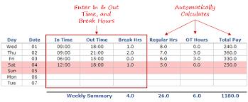 Timesheet Calculator Excel Template Office 365 Login