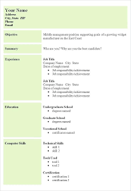 Job Cv Template – Dyppedukop.info