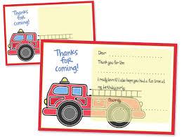 Printable Fire Truck Thank You Cards — Printable Treats.com