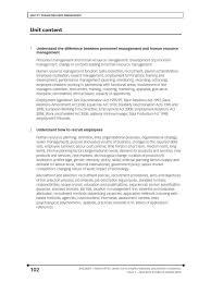 unit hrm contents human resource management employment