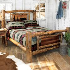 rustic wood bed frame. Plain Frame Aspen To Rustic Wood Bed Frame K