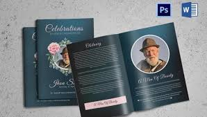 Free Book Template For Word 5 Funeral Booklet Templates Word Psd Format Download