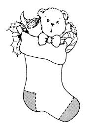 christmas stocking clip art black and white. Fine White Stocking Bear  Mormon Share To Christmas Clip Art Black And White Clipart Library