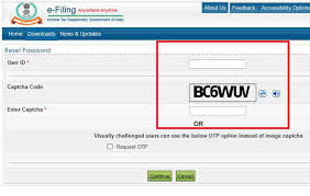 Income Tax Password Reset Itr Filing How To Reset