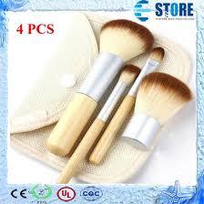 <b>New Hot 1set</b> 4pcs Bamboo Professional Powder Blush Brush ...