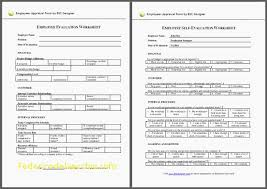 Employee Performance Appraisal Form Template Unique Free Employee ...