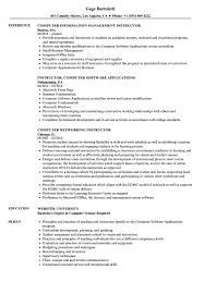 Computer Instructor Resume Samples Velvet Jobs