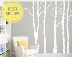 on tree wall art decals vinyl sticker with nursery wall decal etsy