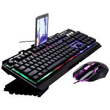 Led Light Keyboard Amazon Com Forhe Rainbow Led Backlight Gaming Equipment Kit