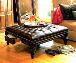 square ottomans coffee tables ottoman table faux leather upholstered cocktail black large