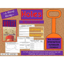 holes mega activity packet a novel study of the book by louis sachar 1