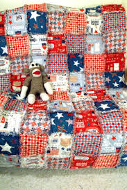 33 best i rag quilt - for sale images on Pinterest | Blankets, Rag ... & Red White & Blue rag quilt. Show your patriotic colors! More photos and  details Adamdwight.com