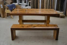 Rustic Dining Table Designs Farmhouse Dining Table With Bench Rustic Reclaimed Farmhouse