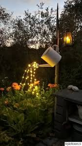 creative outdoor lighting ideas. Glowing Watering Can Made With Fairy Lights! Get The Lights Here Creative Outdoor Lighting Ideas I