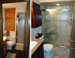 bathroom remodel before and after. Small Bridgewater Bathroom Remodel Skydell Contracting Inc · Before After And T