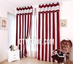 best of red and white striped curtains