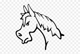 horse face drawing side. Contemporary Horse Angry Horse Face Side View Outline Free Vector Icons  Intended Drawing