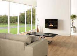 wall mount electric fireplace living room transitional