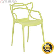 Colibrox set of 4 masters dining chairs modern design armchair indoor outdoor stackable best modern pp green dining chairs amazon modern contemporary