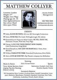 Theatre Resumemplate Free Actor Open Office Musical Theater Word In