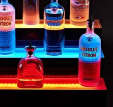illuminated led bar shelves these platforms will make your liquor collection look amazing gallery bar lighting ideas