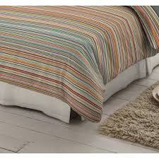 multi colour striped 100 brushed cotton duvet cover