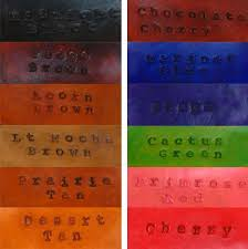 Eco Flo Dye Color Chart Leather Dye Color Eco Flo All In One Stain Finish