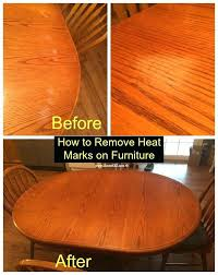 heat stain on wood how to remove heat marks from furniture