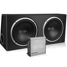 poly planar b0x 200w white waterproof full size box speakers pair belva 1000 watt complete car subwoofer package includes two subwoofers in ported box 1000 watt monoblock amplifier amp wire kit