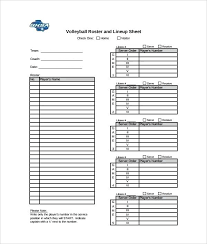 Roster Sheet Template Player Roster Template