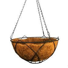 Patio Life 14-in x 7-in Black Metal Hanging Classic Basket