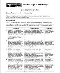 20 Great Rubrics For Integrating Blooms Digital Taxonomy In
