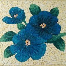 <b>Blue</b> Flower <b>Mosaic Side Table</b> With Storage by LiveInMosaics ...