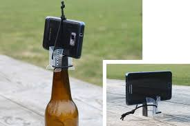 diy smartphone tripod can be placed on top of bottles or stand by it self